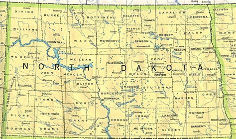 nd map dakota base map