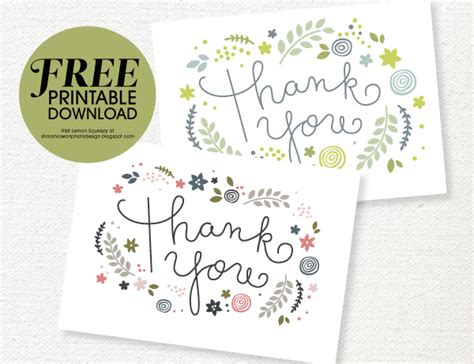 Thank You Card Downloads Free Printable Thank You Card She