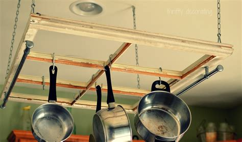 thrifty decorating turn an old window into a pot rack thrifty decorating turn an old window into a pot rack