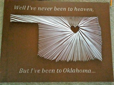 State String How To - oklahoma state string crafts and diy decor
