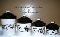 vintage cream and pink kitchen canister set 4 by whitepicket tag black white kitchen ceramic storage canisters jars set