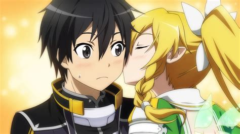 Ordinal Hunger Photo image leafa kirito on his cheek png sword