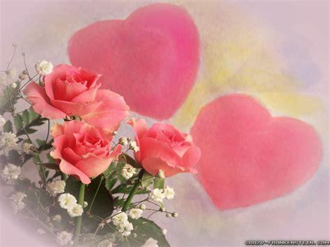 wallpaper flower and heart hearts and flowers wallpaper wallpapersafari