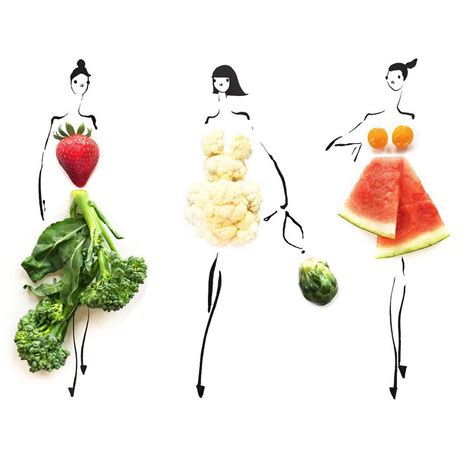 fashion illustration with food when food and fashion collide on instagram glitter inc