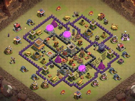 coc layout anti dragon th8 clash of clans th8 war base anti dragons cocbases