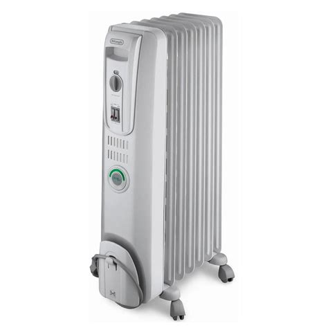 Shop DeLonghi 5,118 BTU Oil Filled Radiant Tower Electric Space Heater with Thermostat and