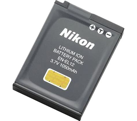 buy nikon en el12 lithium ion rechargeable battery free delivery currys