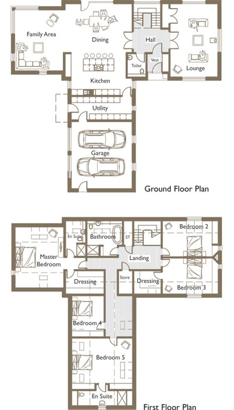 home design ideas t shaped house plans with garage nz