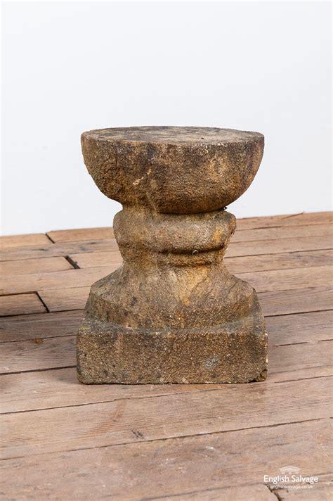 pair composition stone plinths