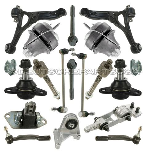 volvo xc front control arms ball joint tie rod engine mounts suspension kit  ebay