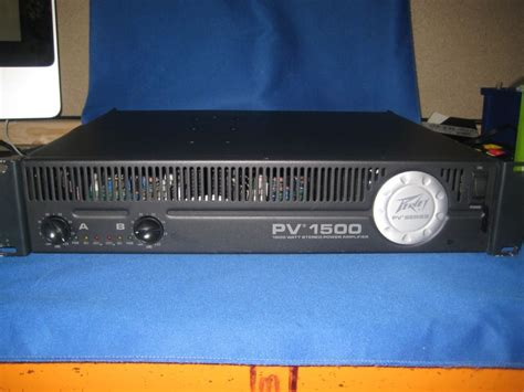 Power Lifier Built Up Peavey peavey pv1500 power lifier 2 x 500 watts rms ebay