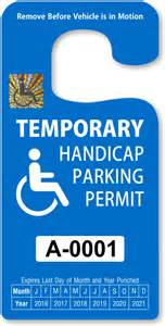 Disabled Parking Template by Placard Template Calendar Template 2016