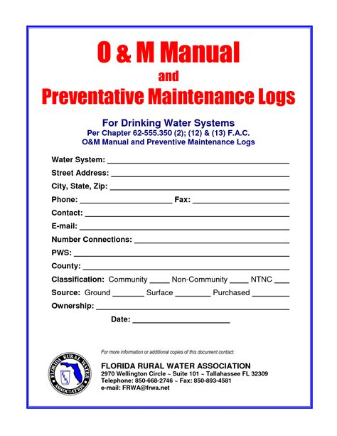 operation and maintenance manual template preventive maintenance quotes quotesgram
