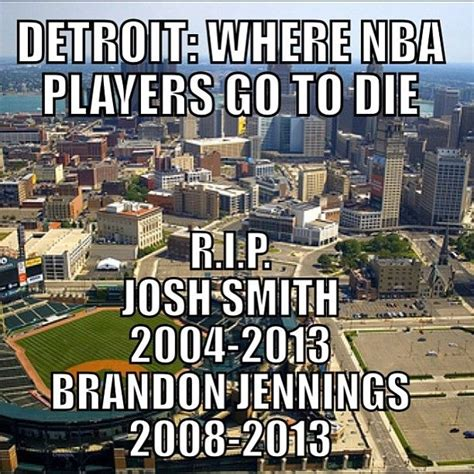 Detroit Meme - nba detroit joshsmith brandonjennings sports memes