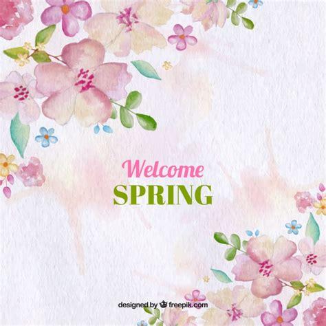 sfondo con i fiori sfondo acquerello con i fiori di primavera scaricare