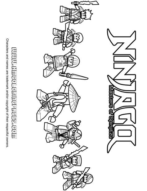 All Lego Ninjago Coloring Pages | free coloring pages of ninjago malvorlagen