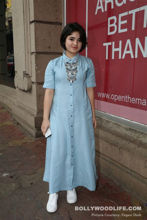 Dress Zaira Set dangal zaira wasim says as a teenageer in