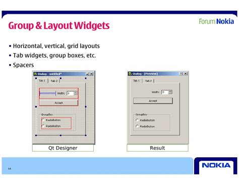 layout qtoolbar qt in depth presentation for symbian expo 2009