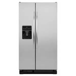 amana 24 5 cu ft side by side refrigerator in stainless