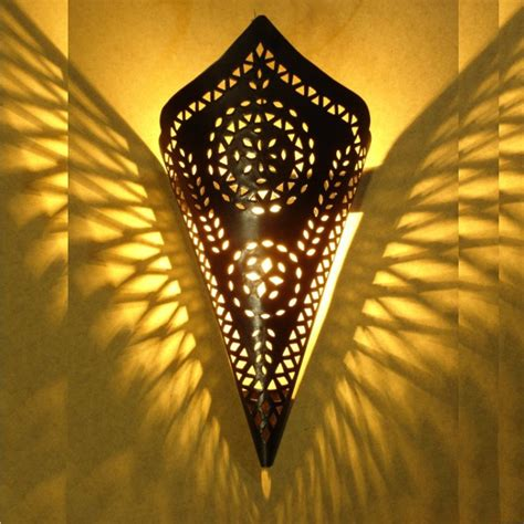 black stylish moroccan wall lighting cone  marrakesh