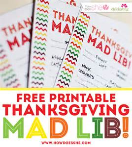 thanksgiving madlib 20 entertaining ideas for thanksgiving kids tables