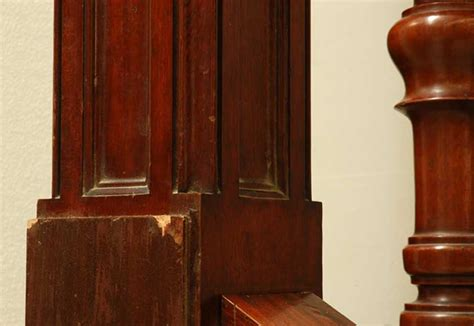 Mahogany Banister by Mahogany Newel Post And Staircase Late 19th Century Stairs And Banisters