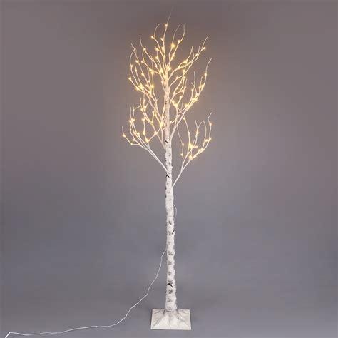 6 Led Lighted Frosted Brown Christmas Twig Tree Warm Led Lighted Tree