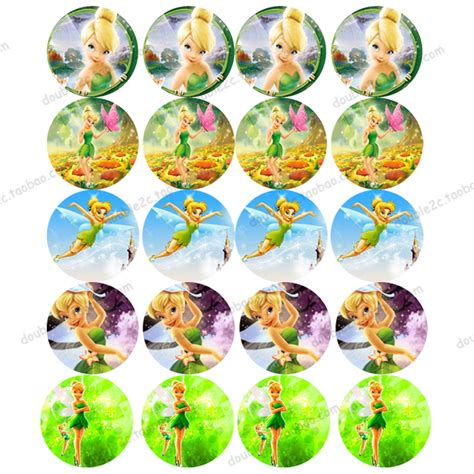 Topper Cake Motif Disney wafer paper for cup cake topper tinker bell fairies
