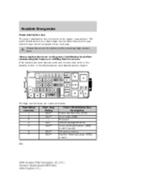 2004 lincoln aviator repair manual 2004 lincoln aviator owner s manual page 250