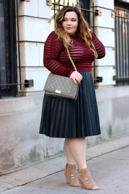 Kode Ak Legging Plus Size Big Size Large Size pleated leather midi skirt see through sleeve