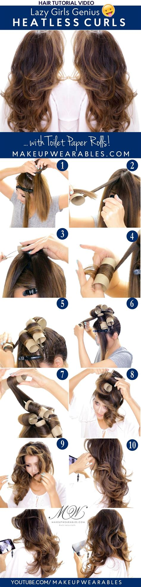 hairstyles for overnight curls lazy girls genius heatless curls overnight tutorial
