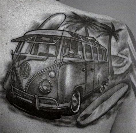 volkswagen bus tattoo 50 volkswagen vw tattoos for men automotive design ideas