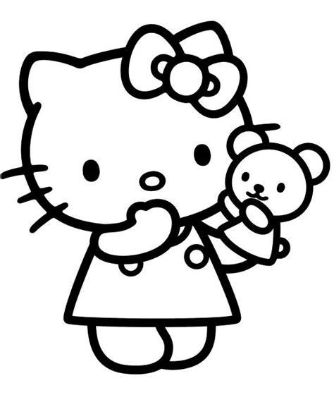 dibujos  imagenes de  kitty  colorear