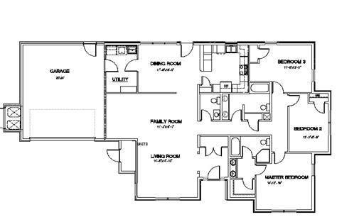 4 bed 4 bath floor plans 4 bedroom 2 bath floor plans homes floor plans
