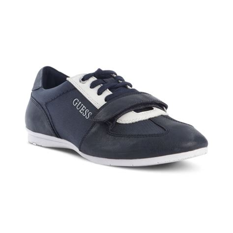 velcro sneakers guess acton lace up velcro sneakers in blue for lyst