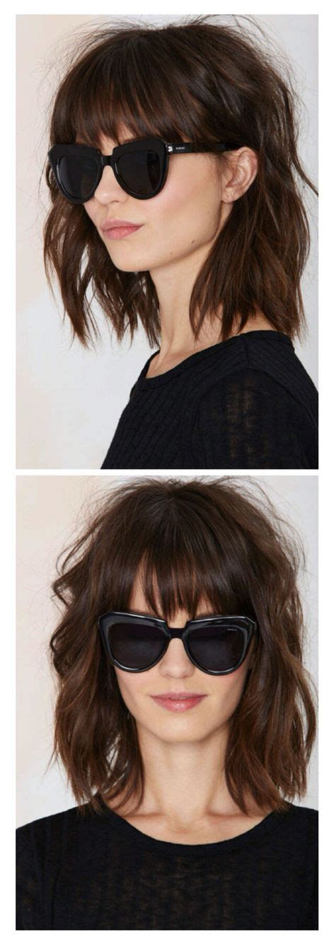 the lob hairstyle with bangs best 25 lob with bangs ideas on pinterest short hair