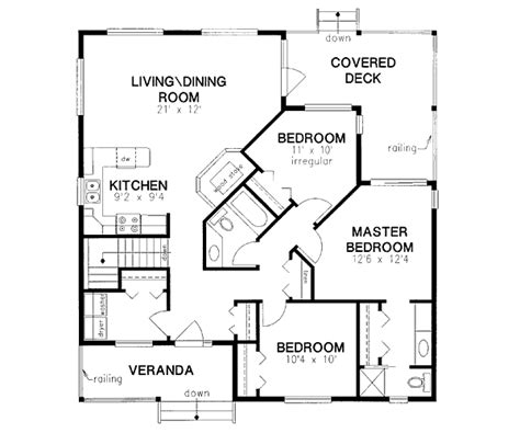 2 story floor plans without garage country style house plans 1217 square foot home 1