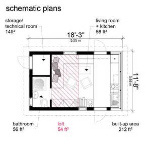 Tiny Cottage Floor Plans Cottage With Loft Small Micro Studio Design Gallery