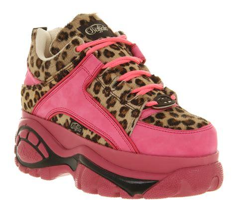 buffalo shoes womens buffalo platform lace up pink pony flats shoes ebay