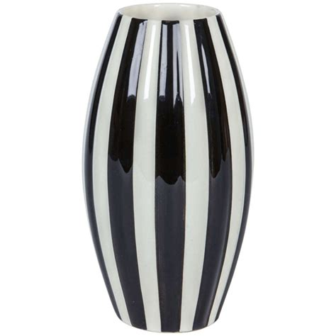 Black And White Vase Historical Design I Velten Vordamm Keramik Bauhaus
