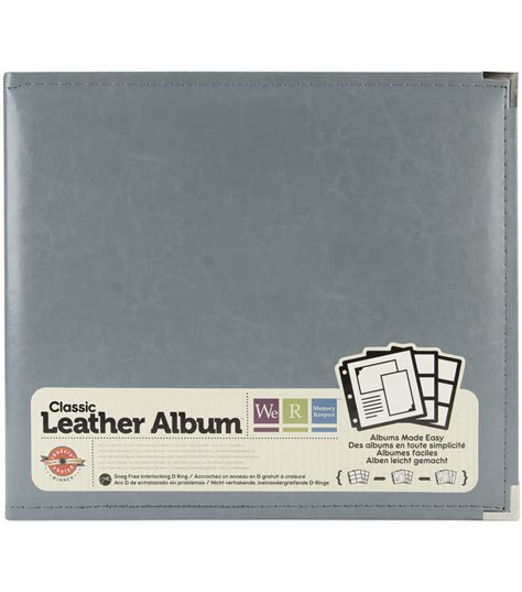 Carla Craft Ring Binding System 12 Hi Store we r memory keepers faux leather 3 ring binder charcoal gray 12 x 12 at joann