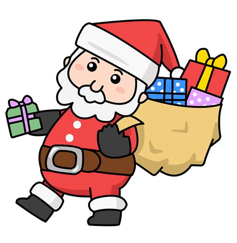 Free Clipart by Clip Santa Claus Presents The Indiana