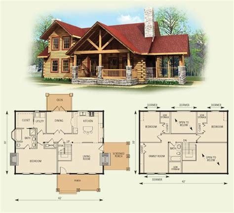 Log Home Floor Plans With Garage by Stoneridge Log Home And Log Cabin Floor Plan Log Home