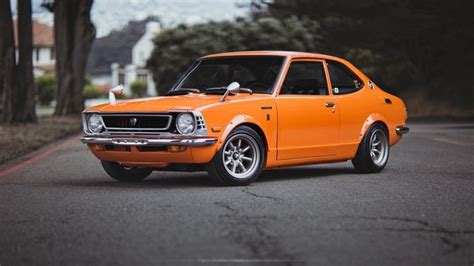 classic toyotas a brief toyota corolla history generations of success