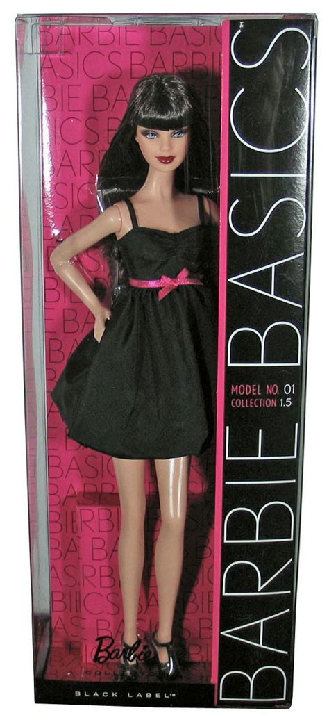 BARBIE BASICS Doll Black Dress Muse Model No 1 01 001