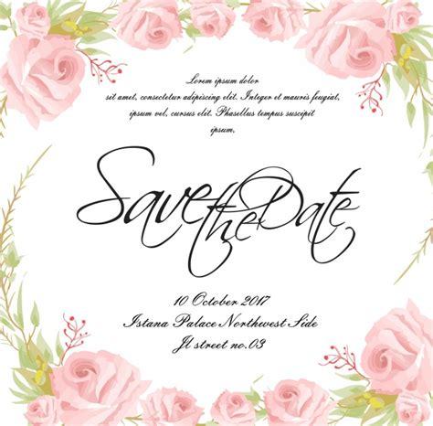 Wedding Card Vector Ai by Wedding Card With Floral Frame Vector Premium