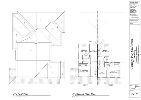 Roof Plans | craftsman second floor plan and roof plan newbury