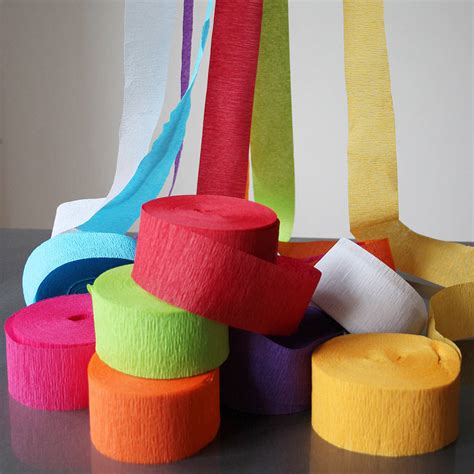 paper crepe streamers by pearl and earl
