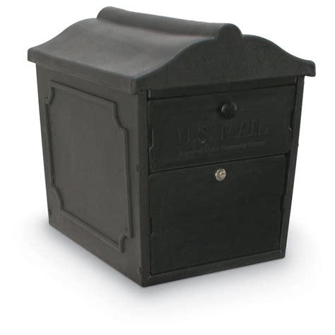 lockable mailbox n1029134 2 compartment black curbside lockable mailbox