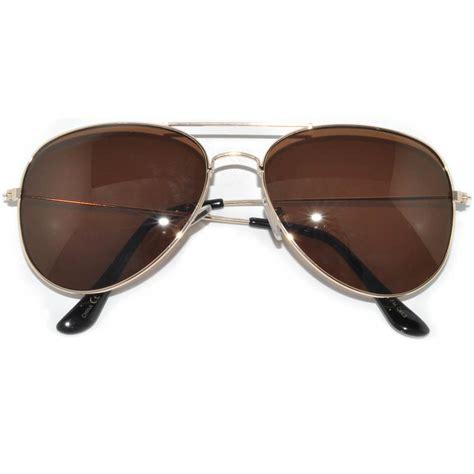 7 Pairs Of Aviator Sunglasses by Owl 174 Eyewear Aviator Sunglasses Gold Frame Brown